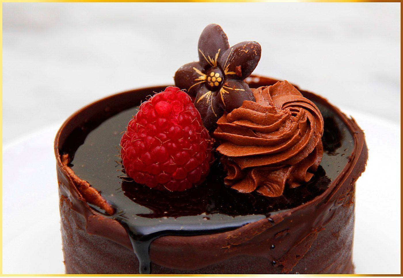 Törtchen  mit Mousse au Chocolat